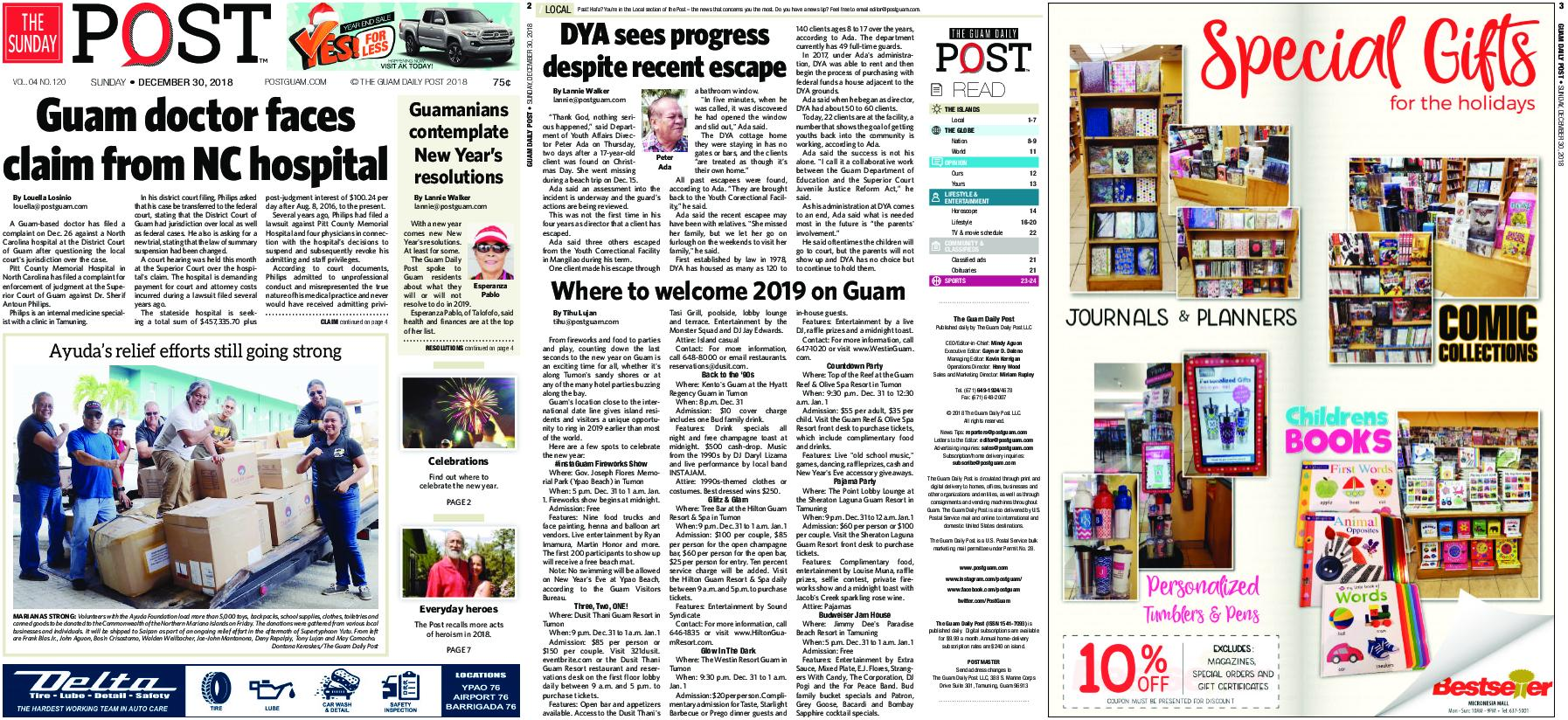 The Guam Daily Post – December 30, 2018