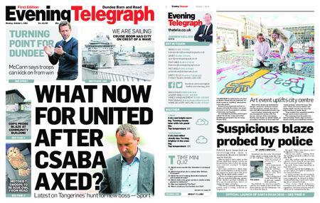 Evening Telegraph First Edition – October 01, 2018
