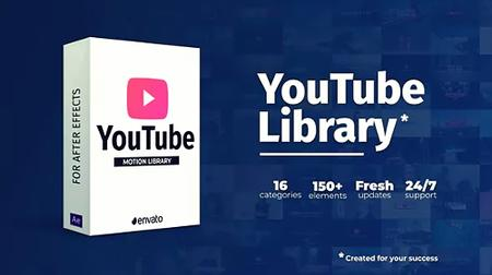 Youtube Library - Project for After Effects (Videohive) 22658349