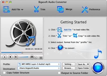 Bigasoft Audio Converter for Mac 5.0.9.5854
