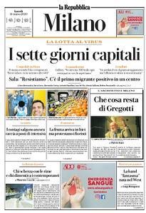 la Repubblica Milano - 16 Marzo 2020