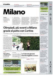 la Repubblica Milano - 19 Settembre 2018