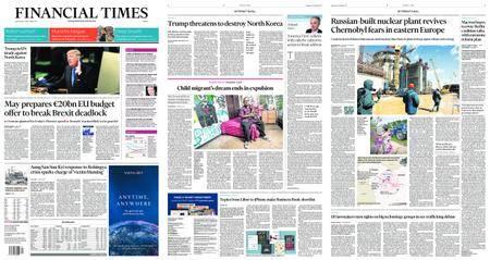 Financial Times Europe – September 20, 2017