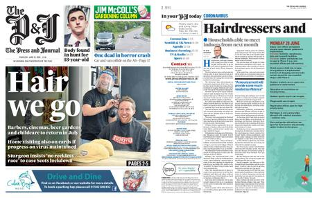 The Press and Journal Moray – June 25, 2020