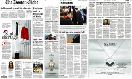 The Boston Globe – December 20, 2018