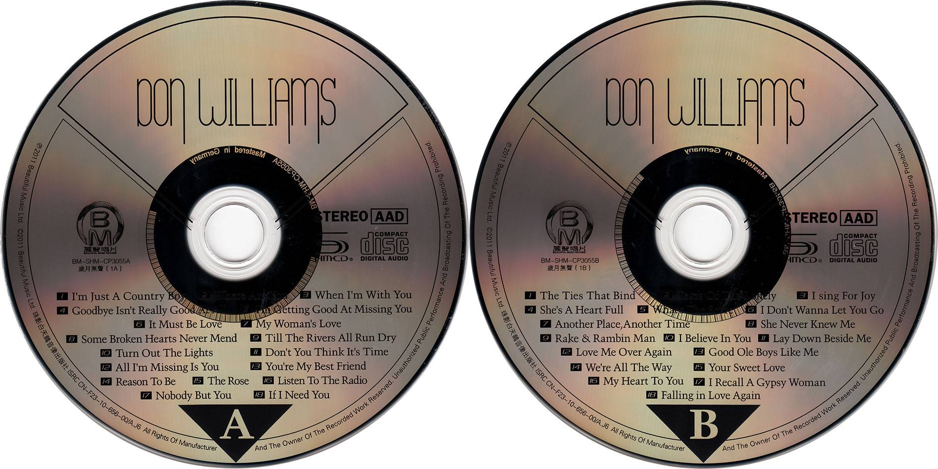 Don Williams - Greatest Hit Best Audiophile (2011) SHM-CD, 2CDs