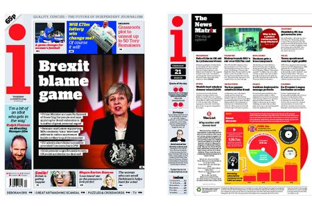 The i Newspaper – March 21, 2019