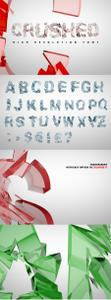 Creativemarket - Crushed Transparent PNG Font 1837818