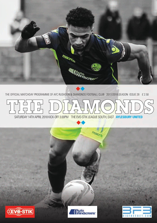 AFC Rushden & Diamonds Matchday Programme - 13 April 2018