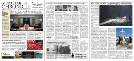 Gibraltar Chronicle – 17 March 2021