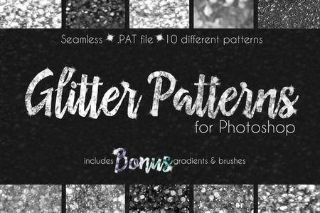 CreativeMarket - Glitter Texture Patterns Photoshop