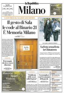 la Repubblica Milano - 27 Gennaio 2020