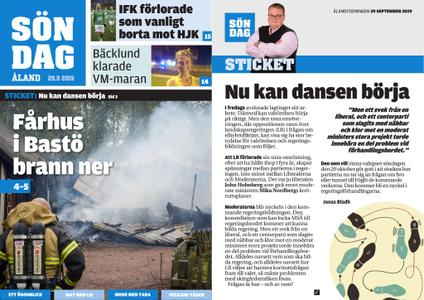 Ålandstidningen – 29 september 2019