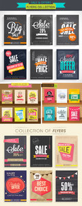 Sale & Offers Flyers Vector