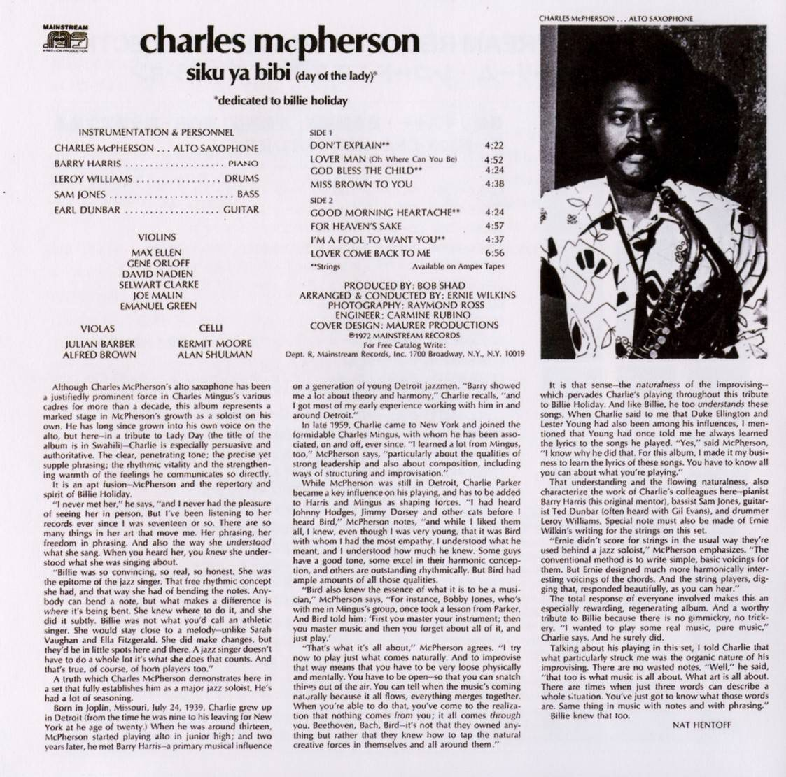 Charles McPherson - Siku Ya Bibi (1972) {2017 Japan Mainstream Records Master Collection Series CDSOL-45219}