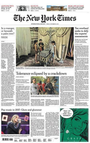 International New York Times - 22 December 2017