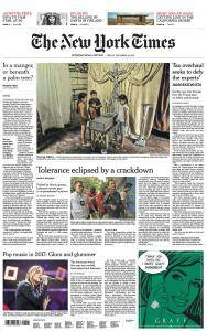 International New York Times - 22 December 2017