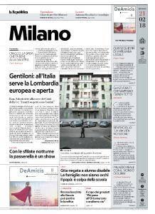 la Repubblica Milano - 21 Febbraio 2018