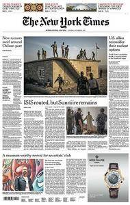 International New York Times - October 31, 2017
