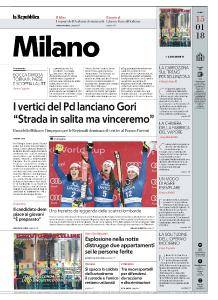 la Repubblica Milano - 15 Gennaio 2018