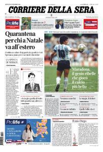 Corriere della Sera – 26 novembre 2020