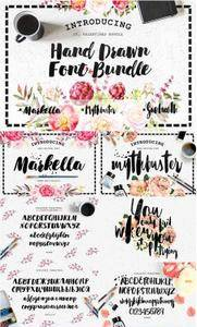 CreativeMarket - Hand Drawn Font Bundle