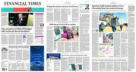 Financial Times USA – September 20, 2017