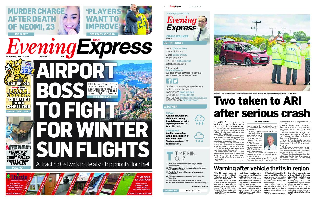 Evening Express – June 12, 2019