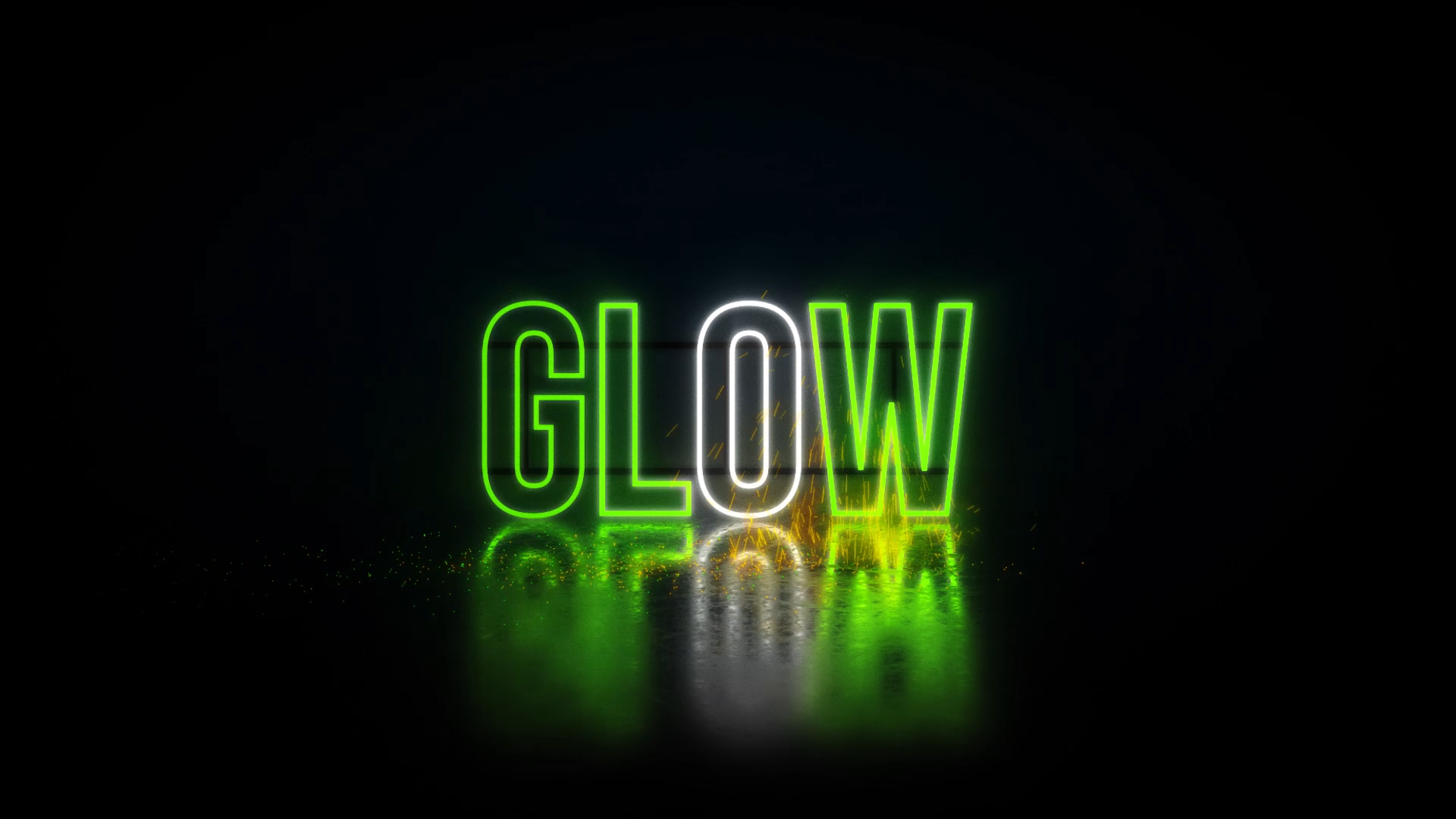 Create a Neon Sign Glow With Sparks / AvaxHome