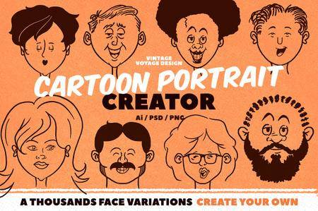 CreativeMarket - Cartoon Portrait Creator