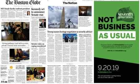 The Boston Globe – September 19, 2019