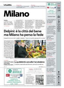 la Repubblica Milano - 10 Febbraio 2019