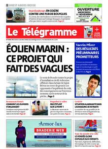 Le Télégramme Brest Abers Iroise – 11 novembre 2020