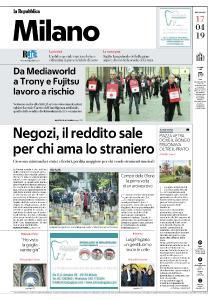 la Repubblica Milano - 17 Aprile 2019