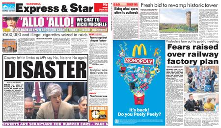 Express and Star Sandwell Edition – March 30, 2019