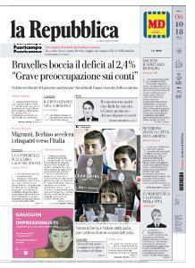 la Repubblica - 6 Ottobre 2018