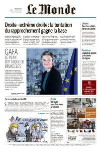 Le Monde du Mardi 24 Avril 2018