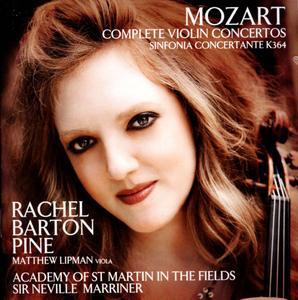 Rachel Barton Pine, Sir Neville Marriner - Mozart: Complete Violin Concertos & Sinfonia Concertante (2014)