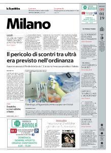 la Repubblica Milano - 9 Gennaio 2019