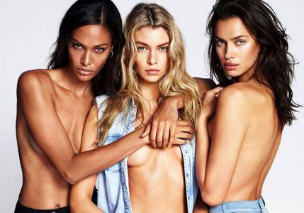 Joan Smalls, Stella Maxwell & Irina Shayk by Mert & Marcus for Replay Jeans TOUCH Collection 2016