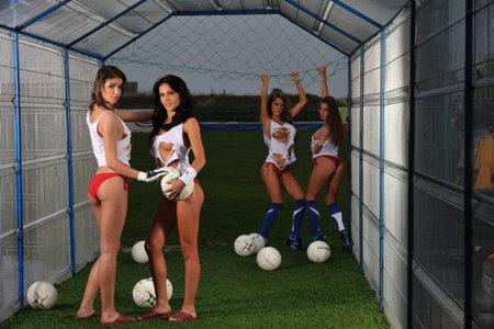 Cyber Club FC - Romania: Lulia Rosca, Anelise Mocioiu, Silvia Burciu & Florentina Raiciu