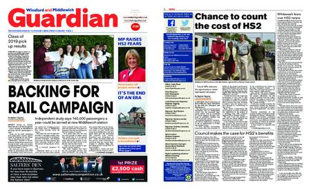 Winsford and Middlewich Guardian – August 29, 2019
