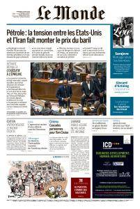Le Monde du Mercredi 1er August 2018