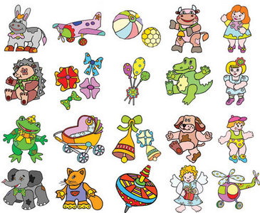 Toys in Vector