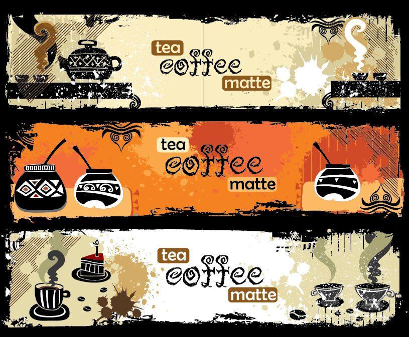 Banner tea coffee matte