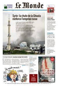 Le Monde du Vendredi 13 Avril 2018
