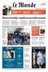 Le Monde du Samedi 25 Août 2018