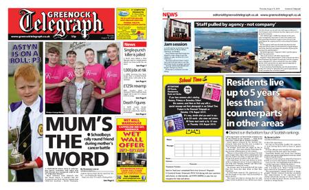 Greenock Telegraph – August 15, 2019