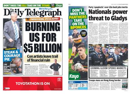 The Daily Telegraph (Sydney) – August 16, 2019