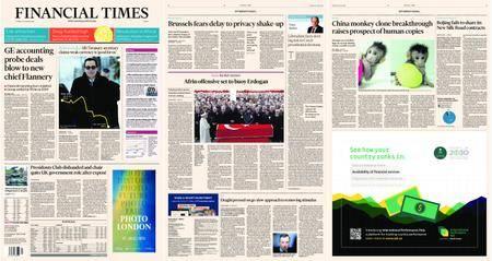 Financial Times Europe – 25 January 2018